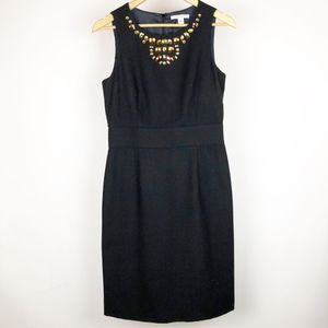 Banana Republic Dress Size 6 Black Wool Gemstone